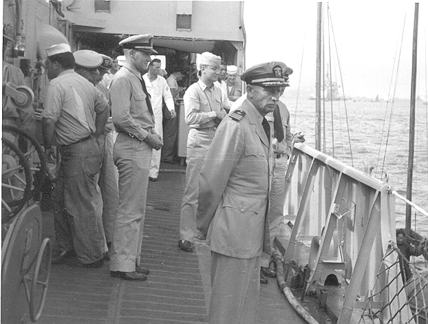 Captain E. L. Yates (CO USS ORLECK DD 886)