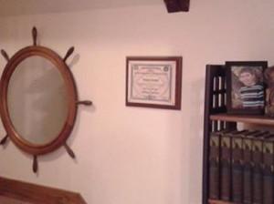 office Razorback display