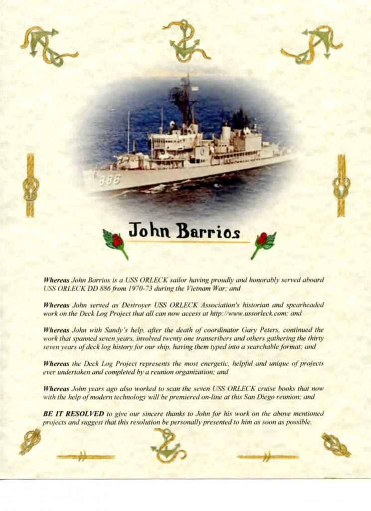 John Barrios Resolution