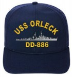 My hat story by Melvin Almond, USS ORLECK sailor.